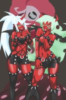 Scanty and Kneesocks by Madcatstudios