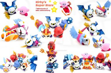 Kirby Series Painted Polymer Clay Sculptures II by Daimyo-KoiKoi