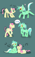 Sweets and strings by Bendykins