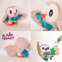 Pokemon Sun and Moon Rowlet Starter Plush by poodledoodleplush
