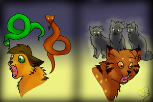 Snakes and She-cats... by Destynee33