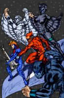 Silverhawks By Wil Woods by Kenkira
