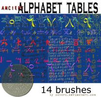 ancient alphabet brushes by colori