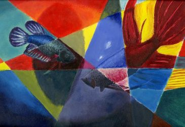 Dance of the Bettas (Scholastic Honorable Mention) by DaEliminator