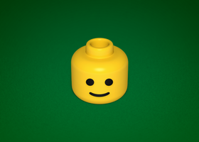 Lego Head Icon by Heliogon
