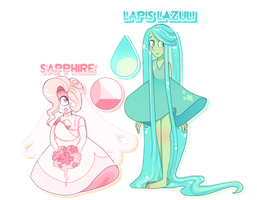[CLOSED] Gem Adopts: Sapphire and Lapis Lazuli by Booty-Bae-Adopts