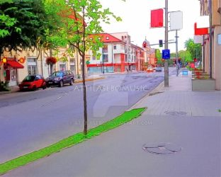 Artistic version of my photo `street and junction` by attilasebo