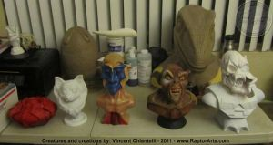 Creature and Character Busts by RaptorArts