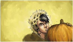Curtis and a Pumpkin by dana-redde