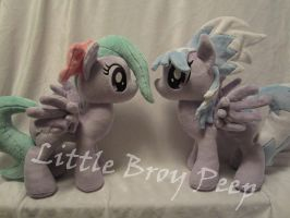 my little pony cloudchaser and flitter plush by Little-Broy-Peep