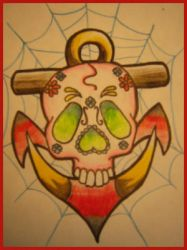 Skull and Anchor. by xnewxnoisex