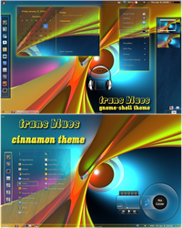 Trans-Blues - Gnome Shell and Cinnamon Theme by rvc-2011