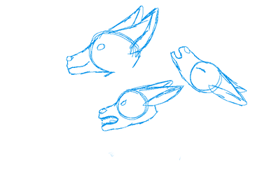 Wolf head sketches by toothless512warrior