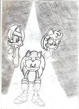 Sonic, sally and Amy by Amazingartistred