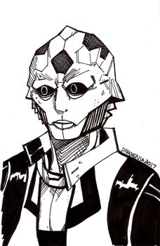 INKTOBER 19: Thane by DivaXenia