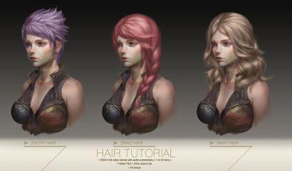 Hair tutorial by yuchenghong