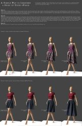 Use dForce to Make a Short Skirt Longer by LadyofTales