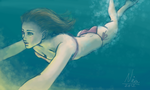 Swimming girl