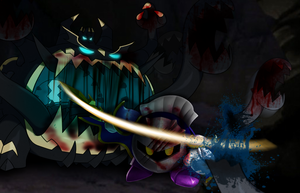 Commission: Meta-Knight VS Guzzlord