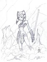 Ahsoka Sketch by JoeyVazquez
