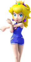Sports Peach: my version by mrbill6ishere