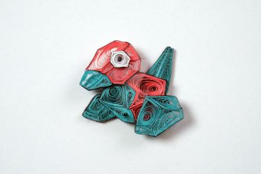 Pokemon Paper Quilling Art 137 Porygon by wholedwarf