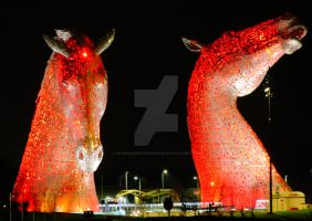 The Kelpies by Crannogphotographic