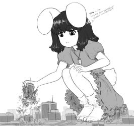 Tewi toys with tiny town by AlloyRabbit