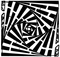 Swirled and Stacked boxes maze by ink-blot-mazes