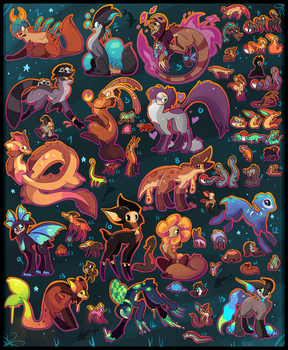Lots of FREE adoptables CLOSED by Roxalew