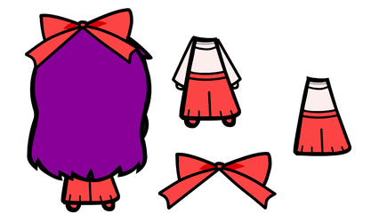 Reimu PC-98 Back Prop Set by Reimu-and-Cirno