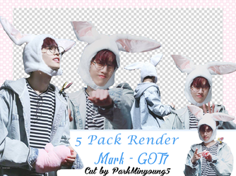 [PACK RENDER #02] [5 Png Pack] MARK - GOT7 by ParkMinyoung5