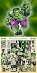 Retro Marvel Comics Calendar for May 2016......... by dusty-abell
