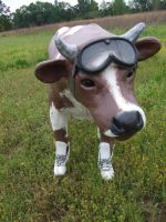 Roller Derby Cow by iloveramen88