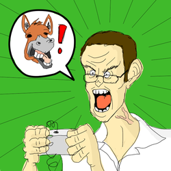 Angry video game nerd! by Robhasadeviantart
