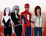 Peter and the Spider-Girls by Izaak94
