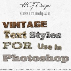Vintage Text Photoshop Styles by HGGraphicDesigns