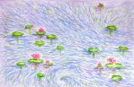 Water lillies by Ideas-in-the-sky