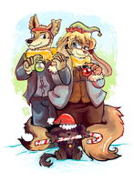 Commission - Foxbunny and Family by raizy
