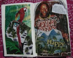1st Altered Book 5, Favorites by angelstar22