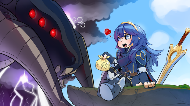 Fire Emblem grima Lucina by drowtales