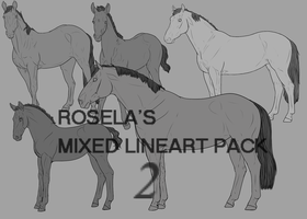 Mixed Lineart Pack 2 by Rosela