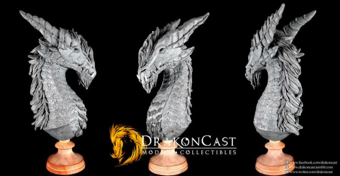 Bearded Dragon bust final sculpt by drakoncast