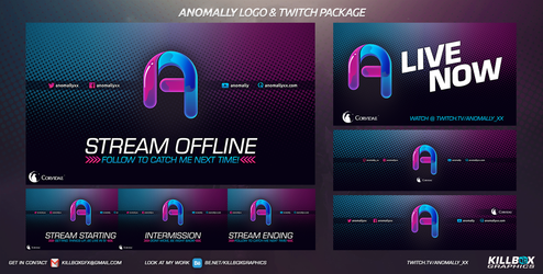 Anomally Twitch Package 2 by KillboxGraphics