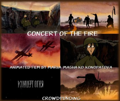 Concert of the fire animation film by Masha-Ko