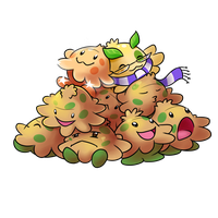 A pile of shroomish by Bestary