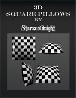 3D square pillows by starscoldnight by StarsColdNight