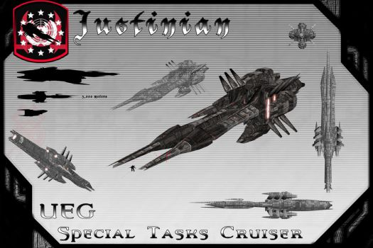 Justinian Class, Special Tasks Cruiser by samurairyu