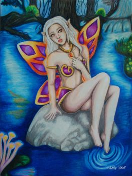 Fantasy Elf at the water + video by Ashley2020