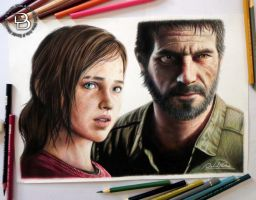 Ellie and Joel - The Last of Us by Daviddiaspr